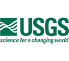 Green and white USGS logo