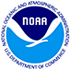 Blue and white NOAA logo